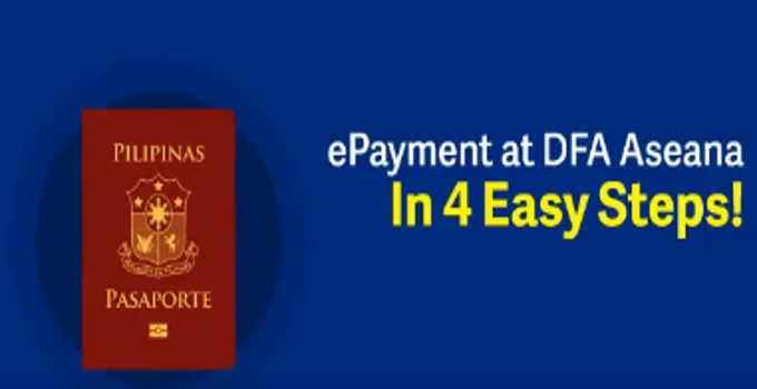 dfa passport epayment