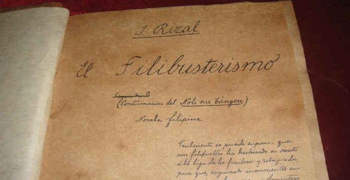 dr.jose rizal's el filibusterismo