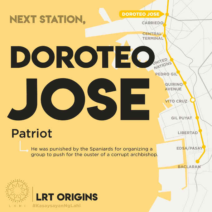doroteo jose station map