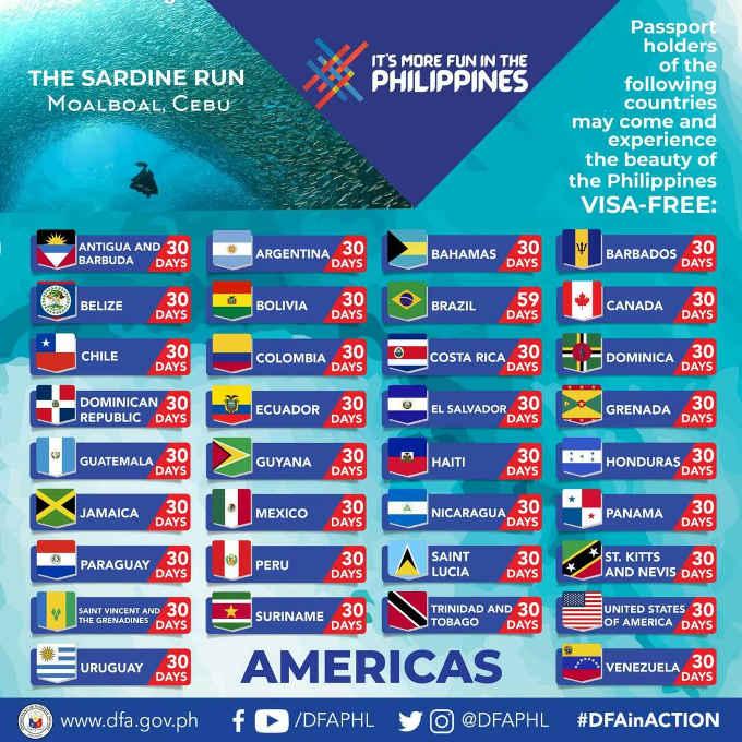 philippines visa free