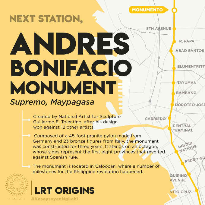 monumento lrt station map