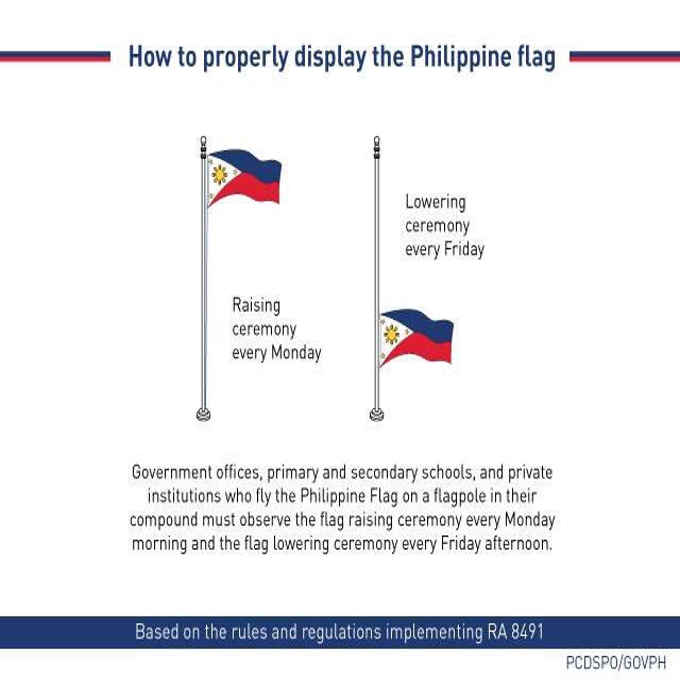 philippine flag raising ceremony