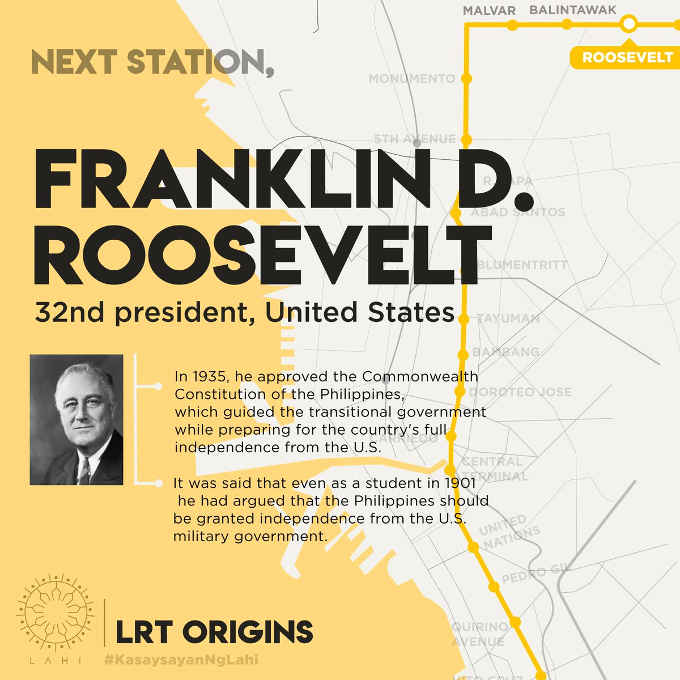 roosevelt lrt station map