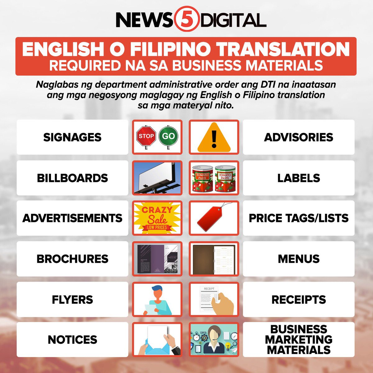 filipino translation for business