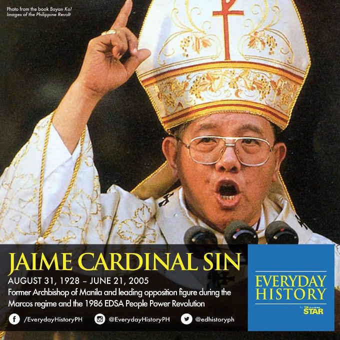 jaime cardinal sin dien june 21 2005