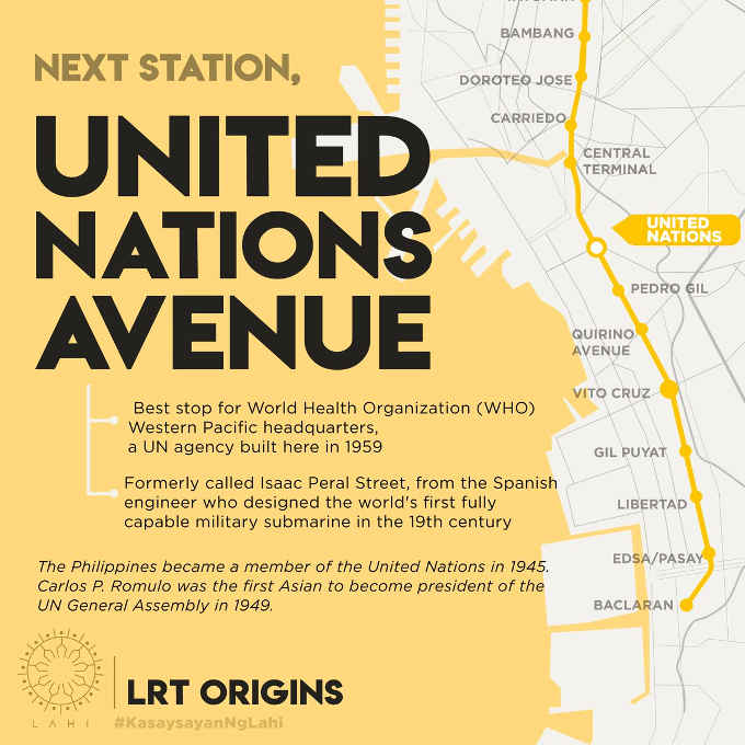united nations lrt station map