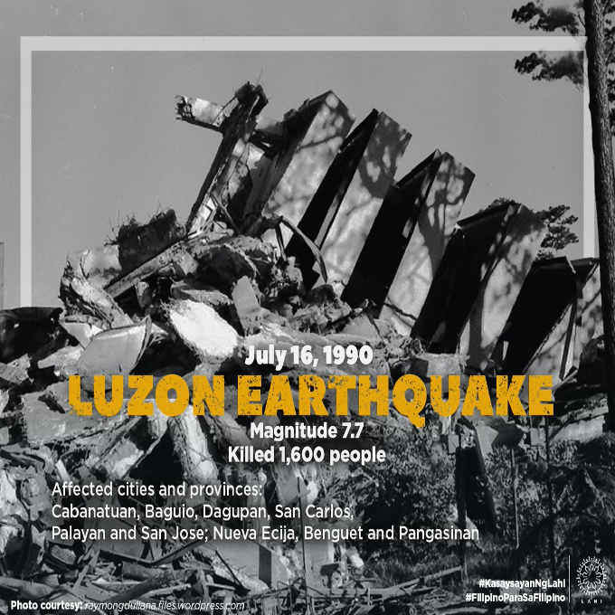 luzon earthquake july 16 1990