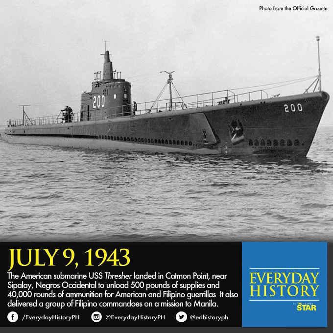 uss thresher july 9 1943
