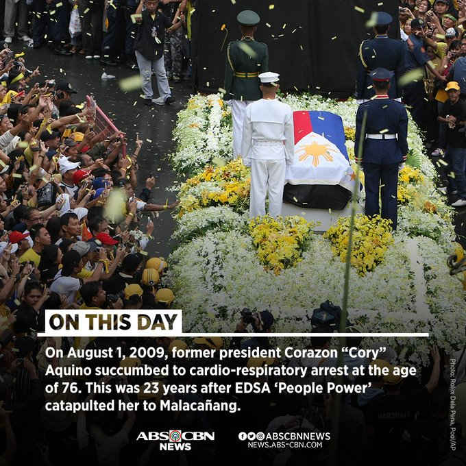 august 1 2009 corazon aquino death anniversary
