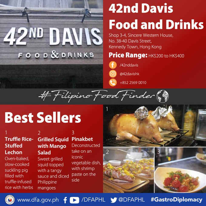 42nd Davis food and drinks