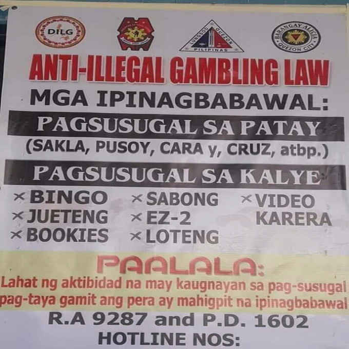 anti illegal gambling law philippines