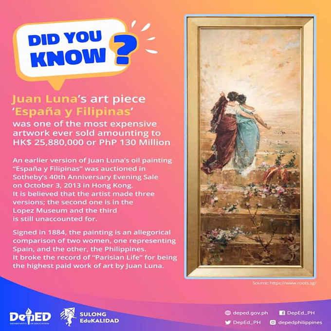 Juan Luna's art piece España y Filipinas 1