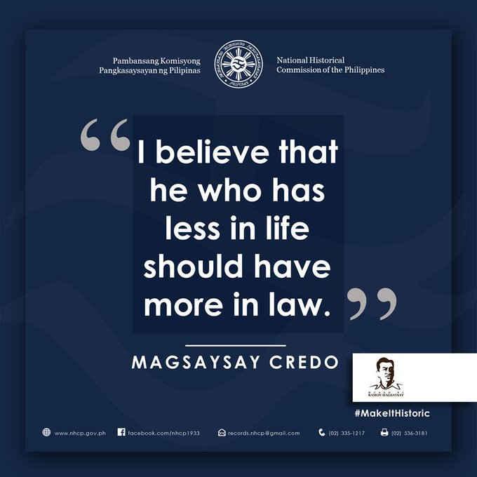 magsaysay credo