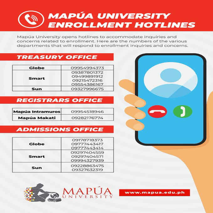 mapua phone number
