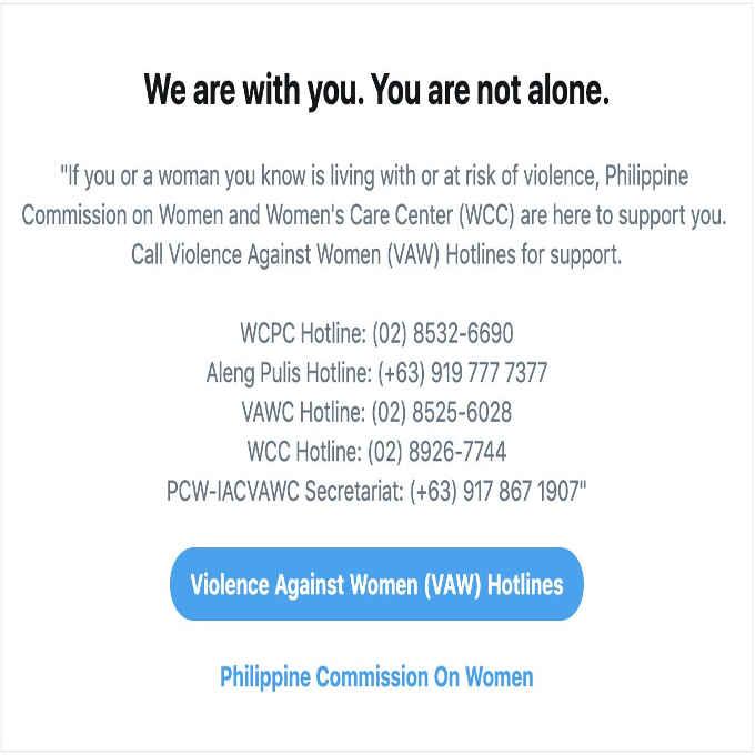 violence against women hotlines