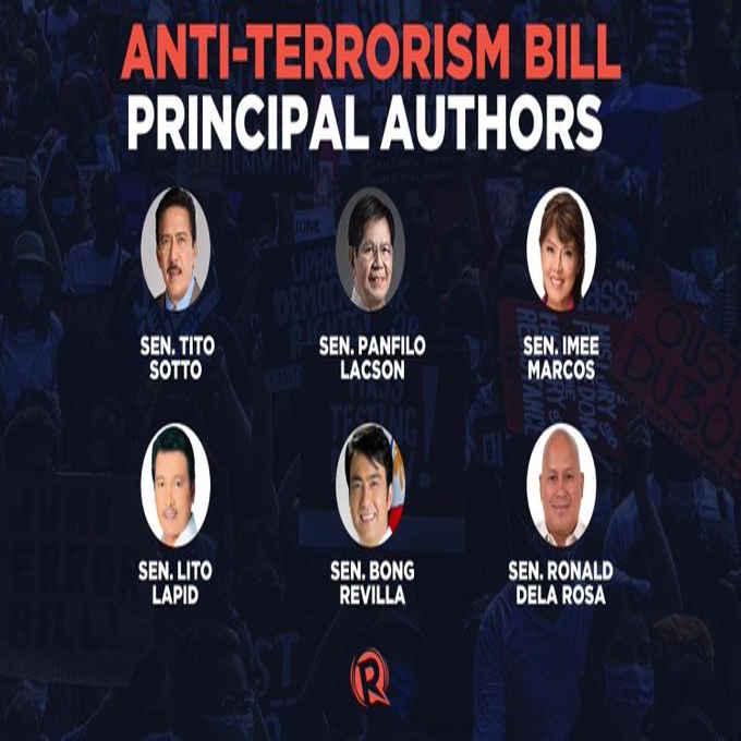 Anti-Terrorism Bill principal authors in the Senate
