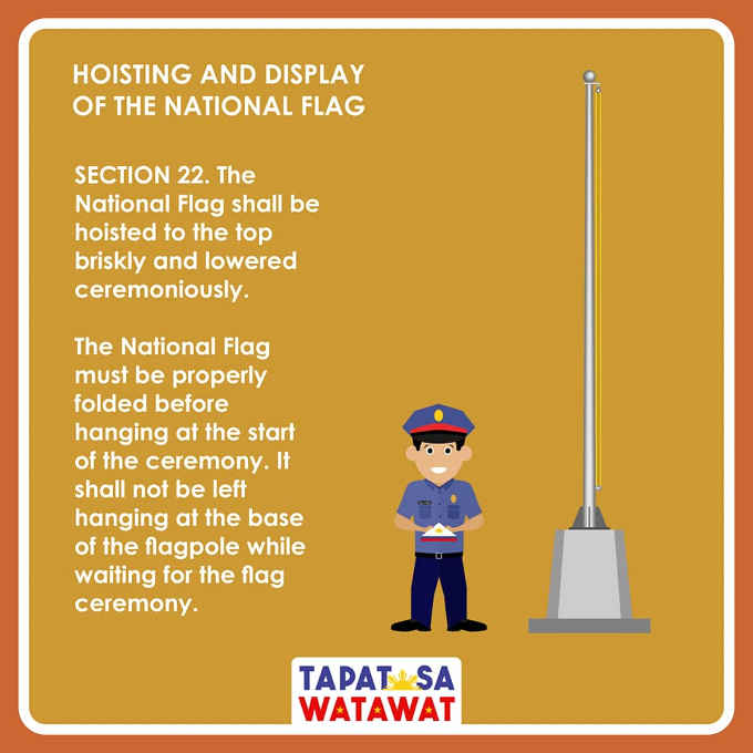 hoisting and display of flag