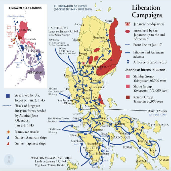 june 28 1945 liberation of luzon