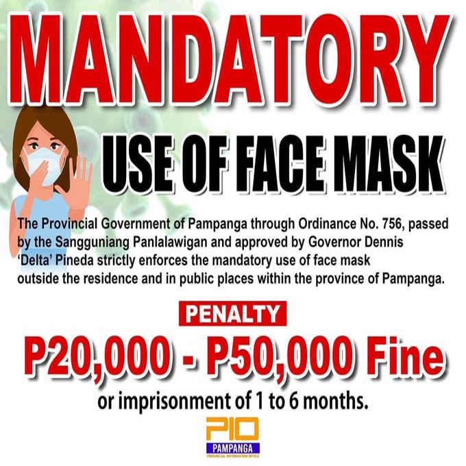 mandatory use of face mask