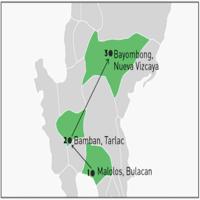 july 14 bamban bayombong map