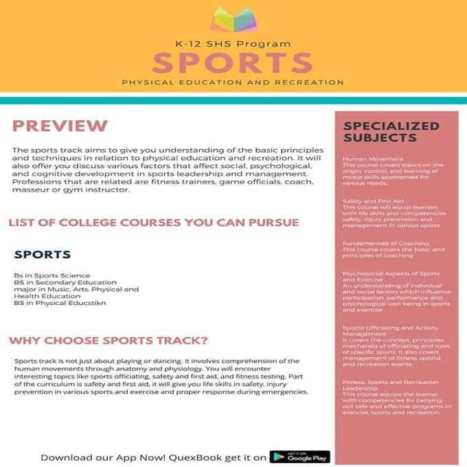 k-12 shs program sports