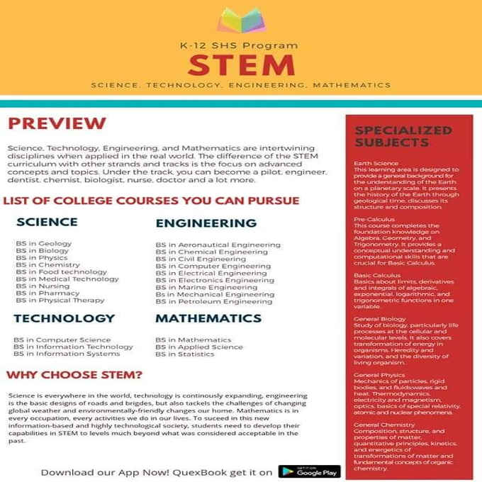 K-12 SHS Stem program