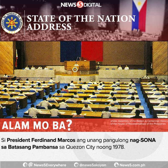 president to hold a sona at the batasang pambansa