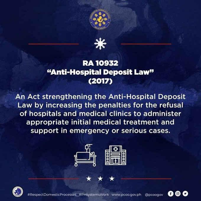 RA 10932 Anti Hospital Deposit Law