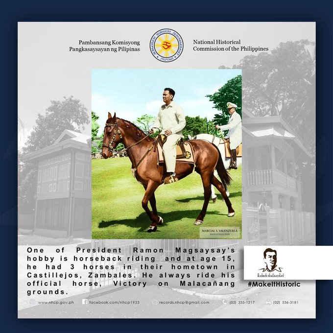 ramon magsaysay horseback riding