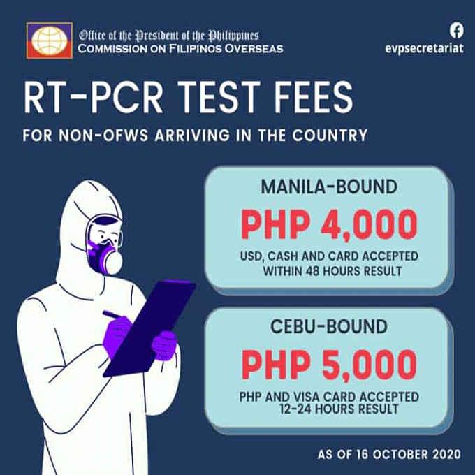 rt-pcr test fees