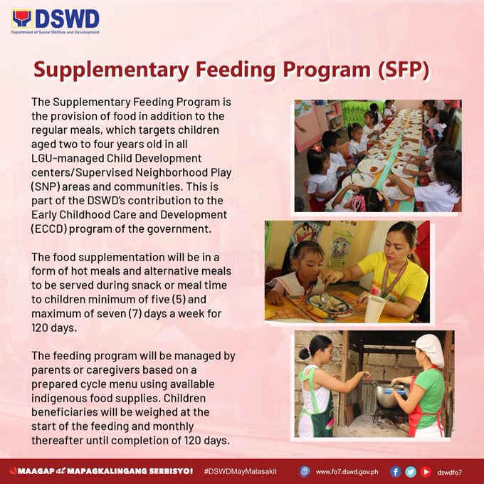 dswd supplementary feeding program